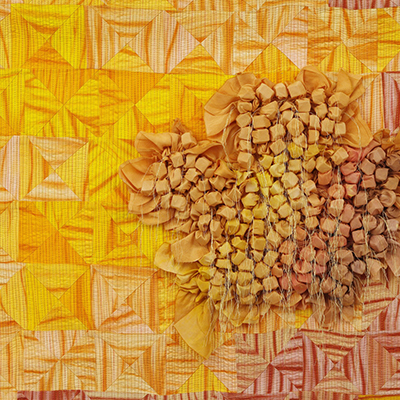 """Detail from """"Sun's Gonna Shine in My Back Yard Some Day"""" by Mary Alexander from Hubbard, Ohio"""